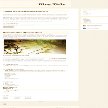 free blogger template Elitive template