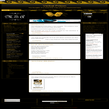 free blogger template Golden Walls E2.0
