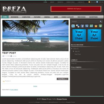 free blogger template convert wordpress theme to blogger template Breza blogger template