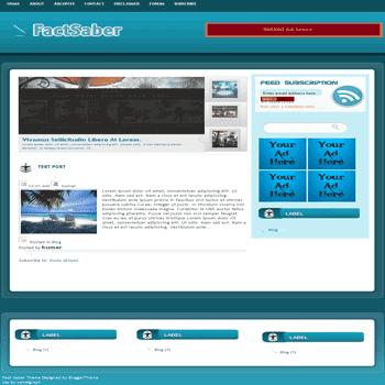 free blogger template convert wordpress theme to blogger template Fact Saber blogger template