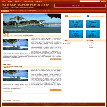 free blogger template convert wordpress theme to blogger New Bordeaux blogger template