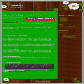 free blogger template convert wordpress theme to blogger Gardener blogger template