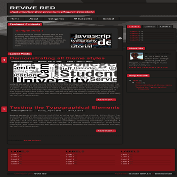 ree blogger template Revive Red Blogger Template
