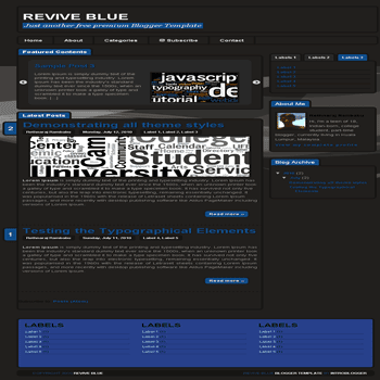 free blogger template Revive Blue Blogger Template