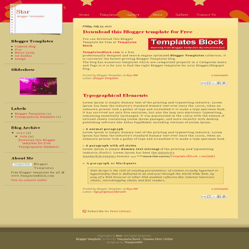 free blogger template convert css template to blogger Star blogger template