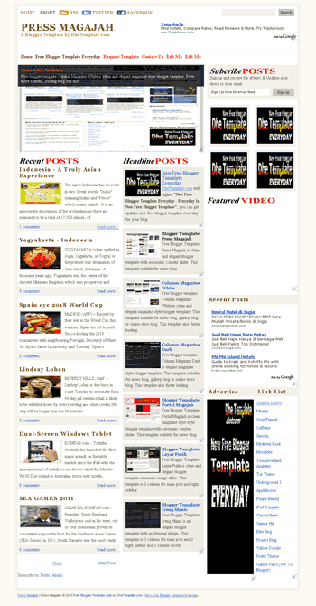 free blogger template press magajah