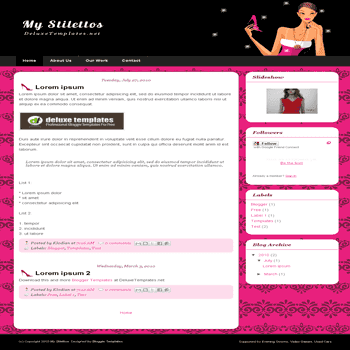 free blogger template My Stilettos for blogspot template