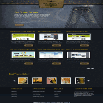 free blogger template converted from css template to blogger template Jeans blogger template