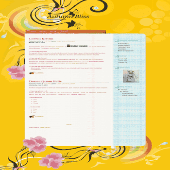 free girly blogger template Autumn Bliss blogger template