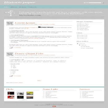 Historic Paper simple and clean free blogger template converted from css to blogger template