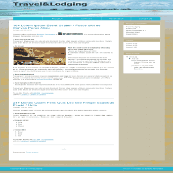 Travel Lodging free blogger template with 2 column template for travelling blog
