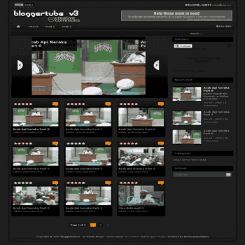 Blogger Tube V3 free blogger template for video blogger template