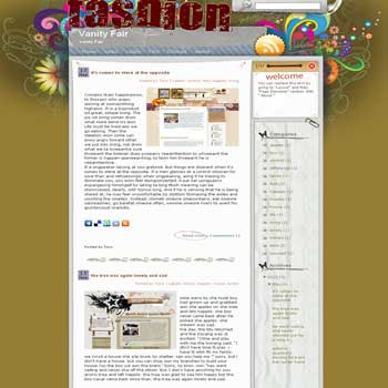Vanity Fair free blogger template converted WordPress to Blogger for fashion blogger template