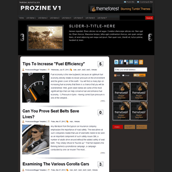 free blogger template Prozine v1 magazine style blogger template with 4 column footer, pagination for blogger and slideshow content blogger template blogger template