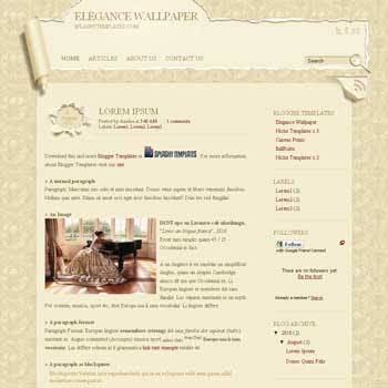 free blogger template Elegance Wallpaper with 2 column blogger template