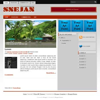 Sejan blogger template convert wordpress theme to blogger template with image slideshow template