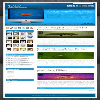Evander blogger template converted from wordpress theme to blogger template with image slideshow blogger template