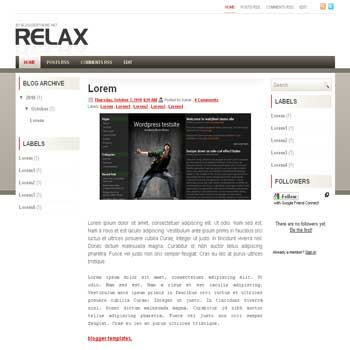 Relax blogger template convert wordpress theme to blogger template with 3 column blogger template