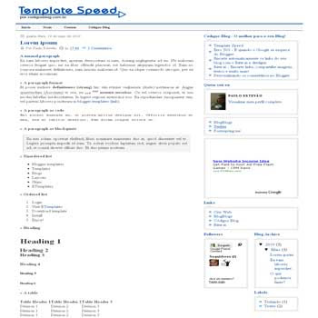 Speed blogger template with 3 column blogger template