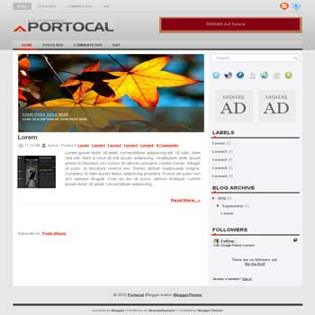 portocal blogger template convert wordpress theme to blogger template with image slideshow template