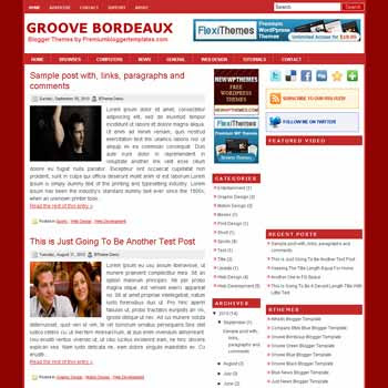 free blogger template Groove Bordeaux blogger template with pagination for blogger ready