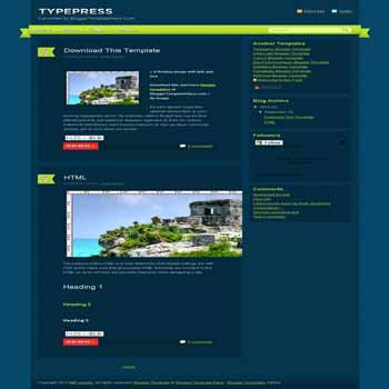 free typepress blogger template converted from wordpress theme to blogger template