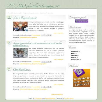 serenity_01 free blogger template for personal blog