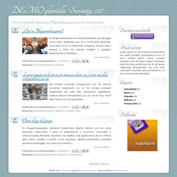 serenity_02 free blogger template for personal blog