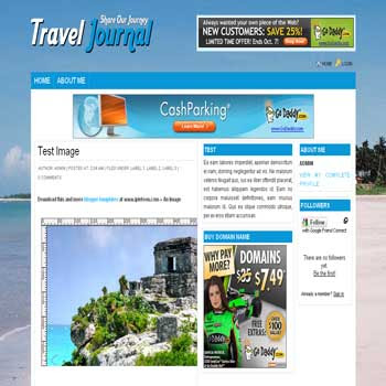 Travel Journal Blog Blogger Template | DheTemplate
