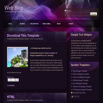 free Web Blog blogger template converted from css template to blogger template
