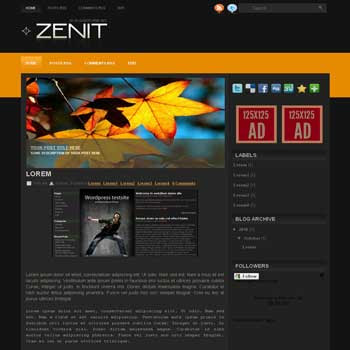 Zenit blogger template convert wordpress theme to blogger template with image slideshow template