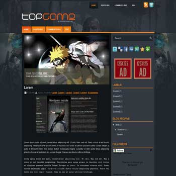 Top Game blogger template convert wordpress theme to blogger template with image slideshow template blog for game blog template