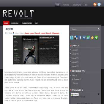 Revolt blogger template convert wordpress theme to blogger template with image slideshow template blog