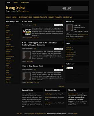 free Ireng Seksi blogger template with 3 column template and template blog with 3 column footer, seo friendly template blog also ads ready template blog