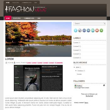 Fashion News blogger template convert wordpress theme to blogger template with image slideshow template blog for fashion news blog