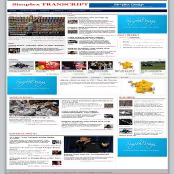 Simplex Transcript blogger template magazine style blogger template with featured content template blog and news style template