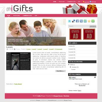 igifts blogger template convert wordpress theme to blogger template with image slideshow blogger template for celebrities blog reviews