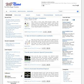 WB news blogger template with 3 column bloggger template. this template is ads ready template blog