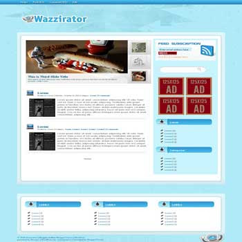 Wazzirator blogger template convert wordpress theme to blogger template with vertical featured content blogger template and 3 column footer template blog