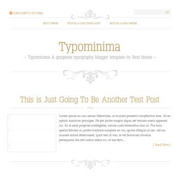 Typominima template blogger converted from wordpress theme to blogger template with 1 column template blog for blogspot
