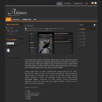 Atimex blogger template. blogger template from wordpress theme. 3 column blogger template. 3 column blogspot template