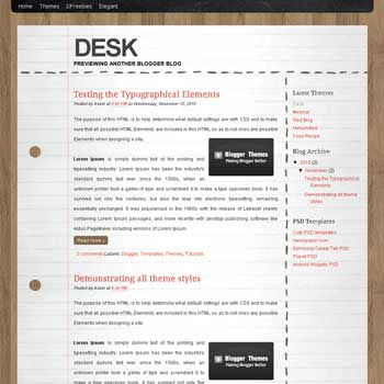 Desk blogger template. blogger template converted from wordpress theme. blogspot template drom wordpress theme