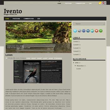 Ivento blogger template. image slideshow template blog. blogger template from wordpress theme. image slideshow template blog