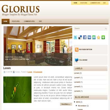 Glorius blogger template convert wordpress theme to blogger template with image slideshow blogger template for blogspot template