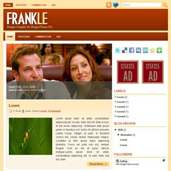 Frankle blogger template convert wordpress theme to blogger template with image slideshow blogger template for blogspot template