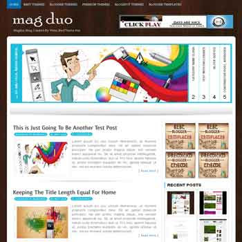Magduo template blogger converted from wordpress theme to blogger template with menu slider template blog magazine style template blogger template for blogspot template