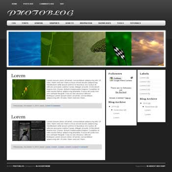 PhotoBlog blogger template convert wordpress theme to blogger template with image slideshow blogger template for blogspot template