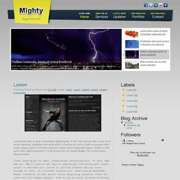 Mighty blogger template convert css template to blogger template vertikal featured slideshow content template blog. slideshow featured content template blogspot