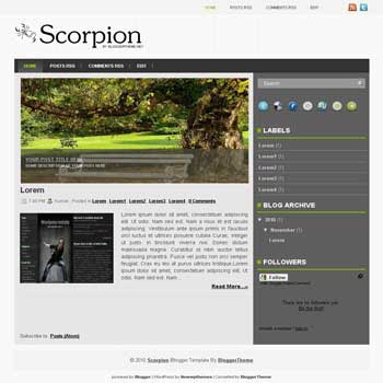 Scorpion blogger template convert wordpress theme to blogger template image slideshow blogger template. blogspot template with image slideshow