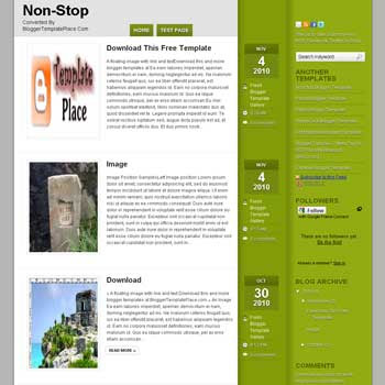 Nonstop blogger template converted from wordpress theme to blogger template with 3 column blog template. 3 column blogspot template